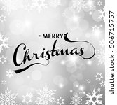 christmas silver background... | Shutterstock .eps vector #506715757