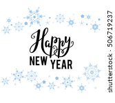 happy new year lettering | Shutterstock .eps vector #506719237