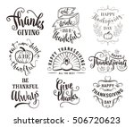 vector set of thanksgiving... | Shutterstock .eps vector #506720623