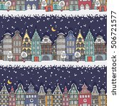 christmas seamless pattern with ... | Shutterstock .eps vector #506721577
