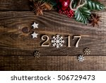 sigh symbol from number 2017 on ... | Shutterstock . vector #506729473