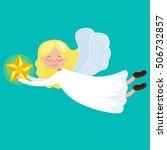 christmas holiday flying angel... | Shutterstock .eps vector #506732857