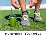 green smoothie fitness man... | Shutterstock . vector #506739523