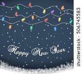 happy new year. luminous... | Shutterstock .eps vector #506745583