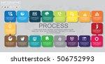vector next steps arrows for... | Shutterstock .eps vector #506752993