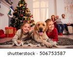 happy children are lying on... | Shutterstock . vector #506753587