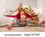 this is our favorite christmas. ... | Shutterstock . vector #506757997
