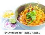 curried noodle soup  khao soi ...   Shutterstock . vector #506772067
