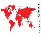map of the world with red... | Shutterstock .eps vector #506789917