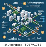 3d city isometric three... | Shutterstock . vector #506791753