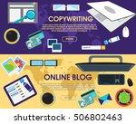online blog and copywriting....   Shutterstock .eps vector #506802463