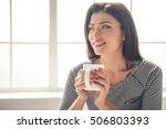 portrait of beautiful young... | Shutterstock . vector #506803393