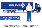 transportation concept.... | Shutterstock .eps vector #506810677