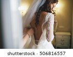 beautiful lace back of the... | Shutterstock . vector #506816557