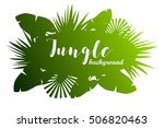green jungle background... | Shutterstock .eps vector #506820463