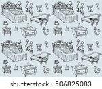 seamless texture   a sketch of... | Shutterstock .eps vector #506825083