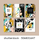 set of abstract creative cards. ... | Shutterstock .eps vector #506831647