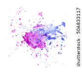 colorful abstract watercolor... | Shutterstock .eps vector #506833117