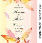 colorful wedding invitation... | Shutterstock .eps vector #506846953