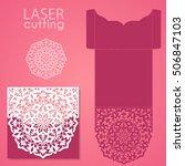 vector die laser cut envelope... | Shutterstock .eps vector #506847103