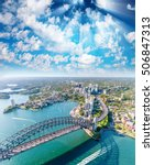 magnificence of sydney harbor... | Shutterstock . vector #506847313
