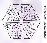 six symmetrically arranged... | Shutterstock .eps vector #506850337