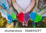 hands   palms of young people... | Shutterstock . vector #506854297