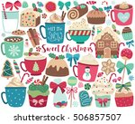 christmas sweets and treats... | Shutterstock .eps vector #506857507