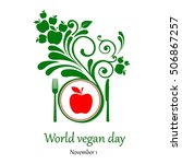 world vegetarian day. november... | Shutterstock . vector #506867257