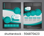 brochure template. business... | Shutterstock .eps vector #506870623