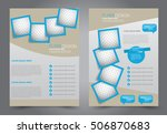 brochure template. business... | Shutterstock .eps vector #506870683