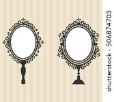 vintage mirrors on the... | Shutterstock .eps vector #506874703