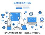 linear flat gamification... | Shutterstock .eps vector #506879893