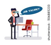 free vacancy for a promising... | Shutterstock .eps vector #506885233