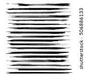 big set of very long textured... | Shutterstock .eps vector #506886133