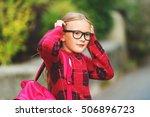 outdoor portrait of a cute... | Shutterstock . vector #506896723