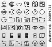 general icons set vector... | Shutterstock .eps vector #506896753