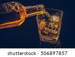 barman pouring whiskey whiskey... | Shutterstock . vector #506897857