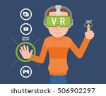 excited man experiencing... | Shutterstock .eps vector #506902297