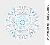 mandala  vector mandala  floral ... | Shutterstock .eps vector #506902897