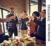 thanksgiving celebration... | Shutterstock . vector #506903563