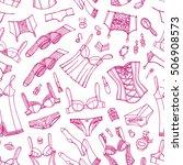 lingerie woman underwear... | Shutterstock .eps vector #506908573