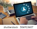 resources and human resources... | Shutterstock . vector #506913607