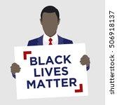 black lives matter illustration | Shutterstock .eps vector #506918137