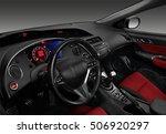 interior of a modern automobile ... | Shutterstock . vector #506920297
