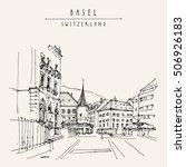 basel  switzerland  europe....   Shutterstock .eps vector #506926183