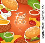 fast food elements   vector... | Shutterstock .eps vector #506928427