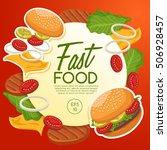 fast food elements   vector... | Shutterstock .eps vector #506928457