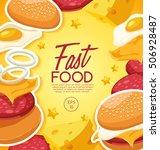 fast food elements   vector... | Shutterstock .eps vector #506928487
