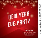 new year party poster template | Shutterstock .eps vector #506932543